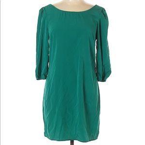 Anthropologie Maude Green Mini Dress